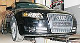 Декоративно-захисна сітка радіатора Audi A4 (B7) фальшрадіаторная решітка, бампер, фото 5