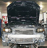 Декоративно-захисна сітка радіатора Audi A4 (B7) фальшрадіаторная решітка, бампер, фото 2