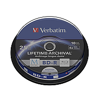 Диски verbatim m-disc bd-r 25 Гб 4x cake 10 штук printable 43825 (43825)