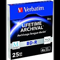 Диски verbatim m-disc bd-r 25 Гб 4x slim 3pcs 43827 (43827)