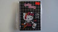 Блокнот Hello Kitty Teddy Rock,Kite ,А6,80лис,пружина,тверд обложка.Блокнот на пружине подарочный Хелоу Китти