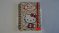 Блокнот на резинке Hello Kitty,Kite ,А6,80лис,пружина,вырубка,тверд обложка.Блокнот на пружине подарочный Хело