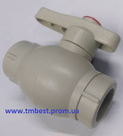Кран шаровый диаметр 25 полипропиленовый со стальным шаром ППР(PPR) для перекрытия воды в системах.