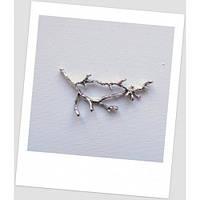 """Коннектор металлический """"веточка"""", цвет: старинное серебро, 5-6 см x 2.6 - 2.8 см"""