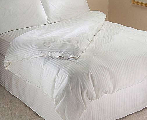 """Постельное бельё для гостиниц , отелей (имитация страйп-сатин) комплект """"Евро""""., фото 2"""