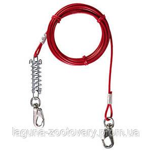 Трос - привязь 5 метров для собаки до 45кг