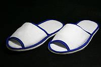 """Тапочки для гостиниц с окантовкой """"Соло"""" из натуральной махровой ткани 100% хлопок"""