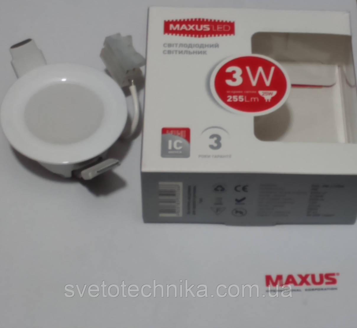 Светодиодная панель Maxus SDL010 3W 3000К (белый тёплый)