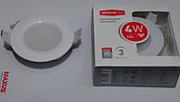 Светодиодная панель Maxus SDL101 4W 3000К (корпус белый)