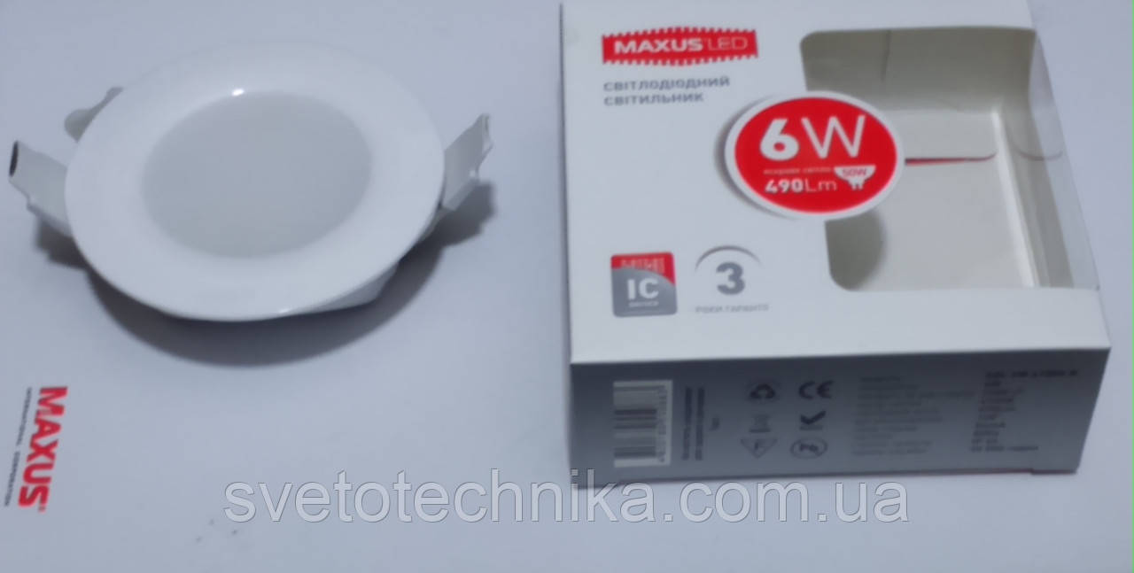 Светодиодная панель Maxus SDL104 6W 4000К (корпус белый)