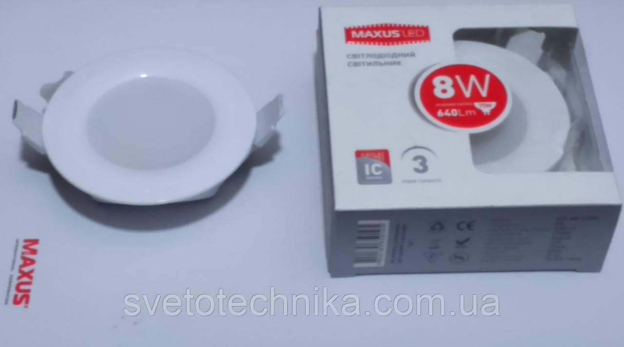 Светодиодная панель Maxus SDL106 8W 4000К (корпус белый)