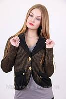 Женское болеро с длиным рукавом и карманами