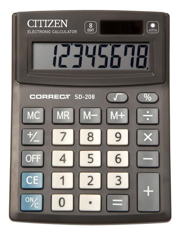 Калькулятор Citizen Correct SD-208  настольный 8р