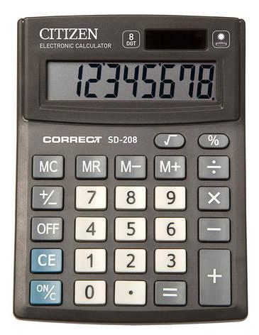 Калькулятор Citizen Correct SD-208  настольный 8р, фото 2
