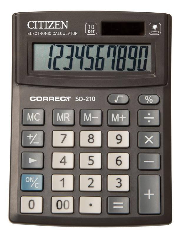 Калькулятор Citizen Correct SD-210 настольный 10р