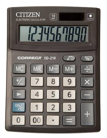 Калькулятор Citizen Correct SD-210 настольный 10р, фото 2