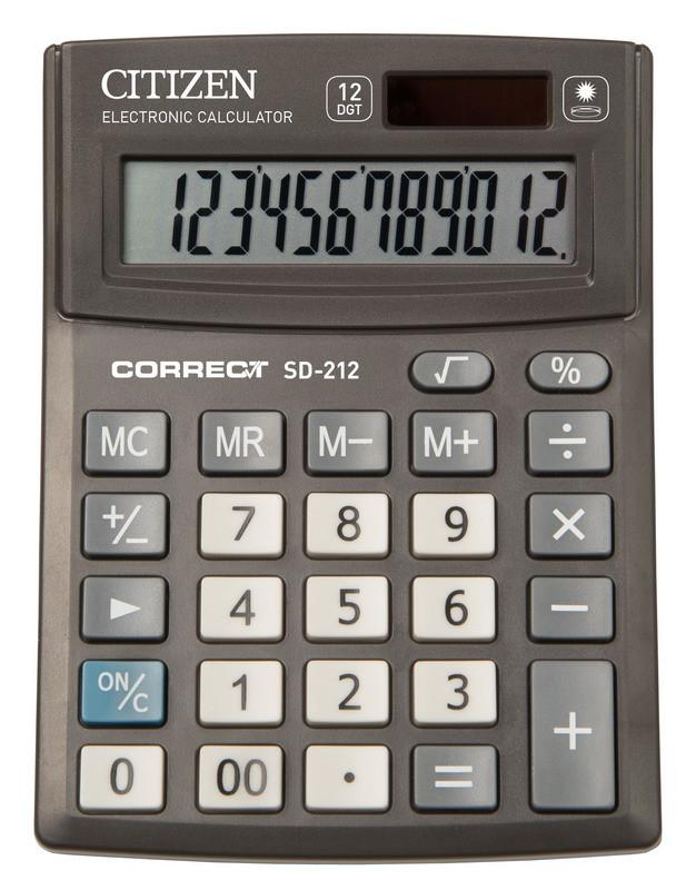 Калькулятор Citizen Correct SD-212 настольный, 12р.