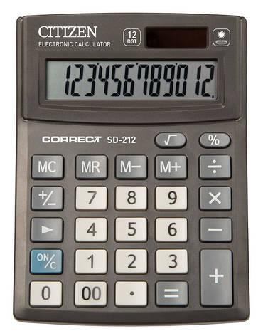 Калькулятор Citizen Correct SD-212 настольный, 12р., фото 2