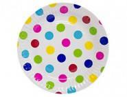 Формы бумажные для кексиков Разноцветные горохи
