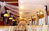 Весільне оформлення тканинами і різними матеріалами, фото 10