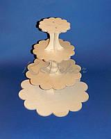 Подставка для тортов и кексов 4-х ярусная заготовка для декора