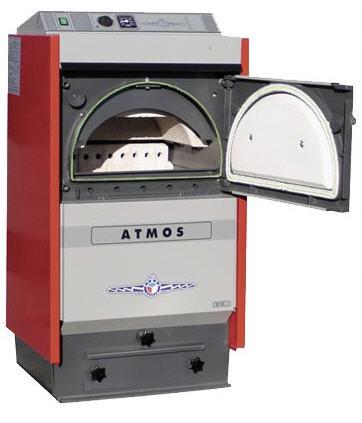 Полупиролизные котлы отопления на твердом топливе ATMOS D 15 - котлы на дровах, фото 1