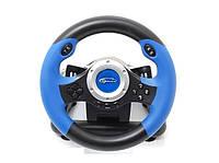 Игровой манипулятор (руль) Gemix WFR-2 Black / Blue (Технология микровибрации, угол поворота руля - 180 °, дли