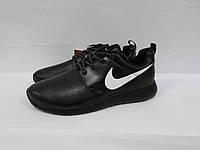 Кроссовки мужские кожаные Найк (550) черные код 995А