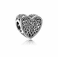 Шарм Pandora сердце, серебро