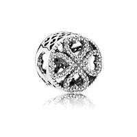 Шарм Pandora сердце клевер, Пандора серебро