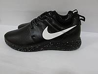 Кроссовки мужские кожаные N ( 551) черные подошва в белую точку код 996А