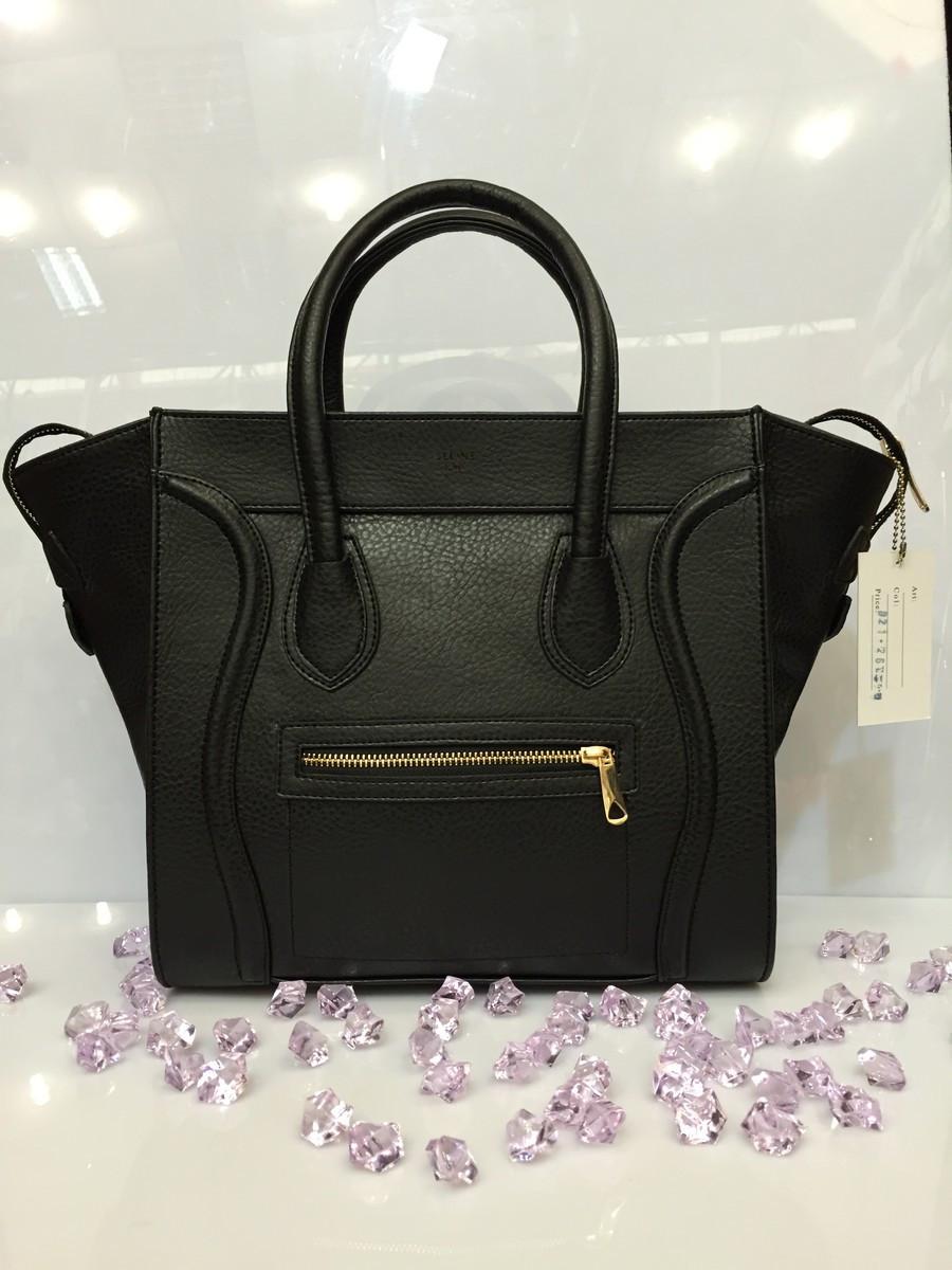 9c48010a2720 Женская сумка Celine 530 классическая из кожзама черная копия ...