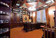 Стол в кабинет из массива древесины (деревянный стол)
