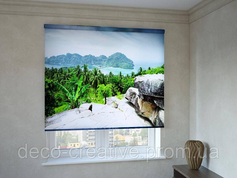 Рулонные шторы пальмы на острове