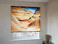 Рулонные шторы горы в пустыне