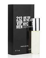 Масляный мини парфюм с феромонами  Carolina Herrera 212 Vip Men (Каролина Херрера 212 Вип Мэн) 7 мл