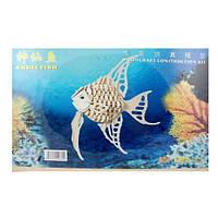 """Купить Сборную деревянную 3D модель """"Аngel fish"""""""