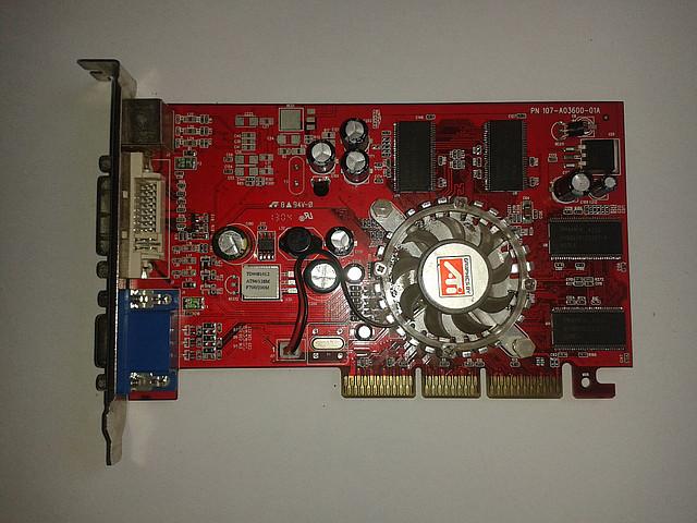 Видеокарта Asus ATI Radeon 9600, 128Mb/DDR/128Bit, AGP