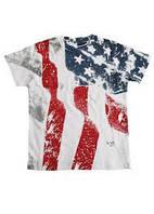 Эксклюзивная футболка американским флагом мультиколор 65%хлопок,35%полиэстер 53002-CL