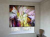 Рулонные шторы с фотопечатью картина маслом