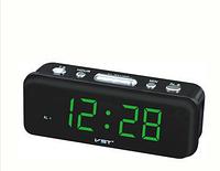 Электронные настольные часы с будильником vst 738 green