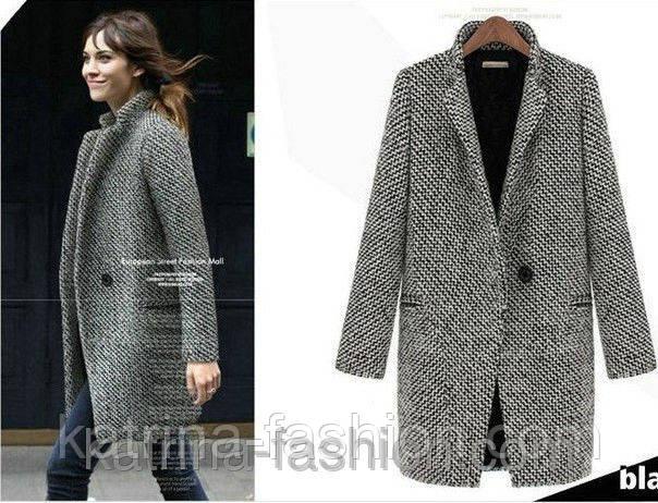 твидовое пальто, пальто из твида, женское пальто из твида оптом