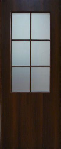 Дверное полотно ламинированные финиш пленкой Классика со стеклом МДФ