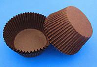 Тарталетка бумажная для кексов/маффинов Коричневая, d=50мм. h=30мм
