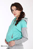 Кофта для беременных и Noelle, серый меланж с мятой