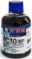Пигментные чернила WWM C10 / BP Black Pigmented (200 ml) (Совместимость: Canon Pixma MG2140 / MG2240 / MG3140