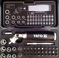 """Набор головок и насадок с поворотной трещоткой 1/4"""" YATO, фото 1"""