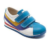 Весенние, кожаные кроссовки FS Сollection для мальчика, на двух липучках, размер 20-30