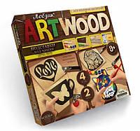 Набор для творчества ART WOOD ПОДСТАВКИ ПОД ЧАШКИ выпиливание лобзиком Danko Toys
