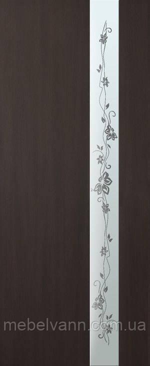 Дверное полотно ламинированные финиш пленкой Зеркало 2 МДФ